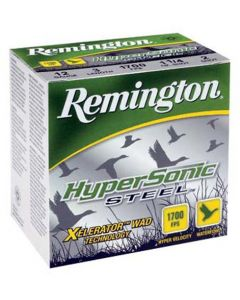 "Remington Ammo Hypersonic Steel 25Pk 12GA 3.5"" 1700FPS. 1-3/8Oz. Bb"