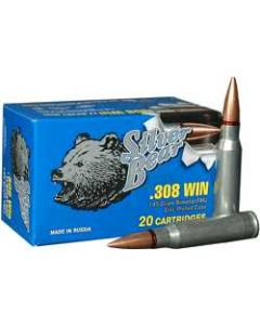 Silver Bear .308 Winchester 145Gr. FMJ Zinc Plated 20-Pack