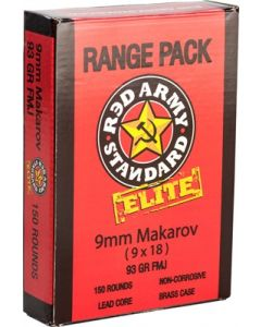 Century International Red Army 9x18mm 150rd Makarov Range Pack 93gr. Fmj