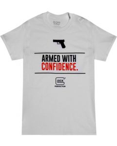 Glock White Short Sleeve T Shirt Armed W/confidence Xl