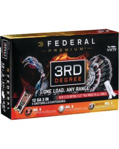 "Federal Cartridge Ammo Third Degree 12ga. 3"" 1 3/4oz. #5,6,7 5-pack"