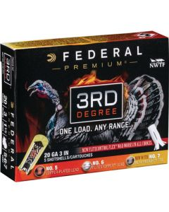"Federal Cartridge Ammo Third Degree 20ga. 3"" 1 7/16oz. #5,6,7 5-pack"