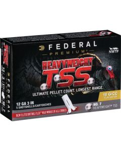 "Federal Cartridge Ammo Heavyweight Tss 12ga. 3"" 1 3/4oz. #7 5-pack"