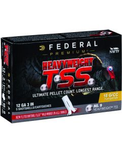 "Federal Cartridge Ammo Heavyweight Tss 12ga. 3"" 1 3/4oz. #9 5-pack"
