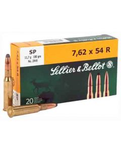Sellier & Bellot Ammo 7.62x54R 180Gr. SP 20-Pack