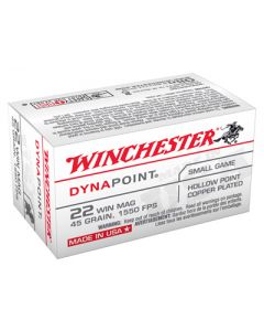 Winchester Ammunition Ammo Dynapoint .22Wrm 1550FPS. 45Gr. Dynapoint 50-Pk