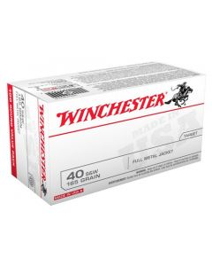 Winchester Ammunition Ammo USA .40SW 165Gr. FMJ Truncated Cone 100-Value Pack