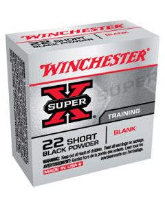 Winchester Ammunition Blanks .22 Short 50-Pack Black Powder Blanks