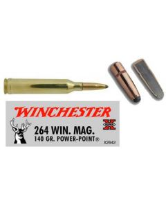Winchester Ammunition Ammo Super-X .264Wm 140Gr. Power Point 20-Pack