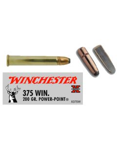 Winchester Ammunition Ammo Super-X .375 Win. 200Gr. Power Point 20-Pack