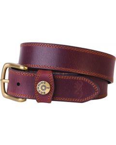 "Spg Browning Leather Belt 44"" Brown W/shotshell Head On Loop"