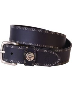 "Spg Browning Leather Belt 42"" Black W/shotshell Head On Loop"