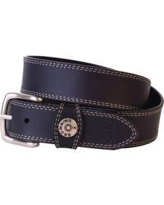 "Spg Browning Leather Belt 44"" Black W/shotshell Head On Loop"