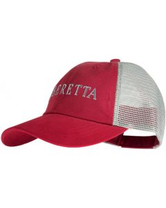 Beretta Cap Trucker L.profile Cotton Mesh Back Crimson