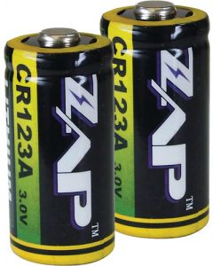 Personal Security Products Zap Cr123a Batteries Lithium 2-pack