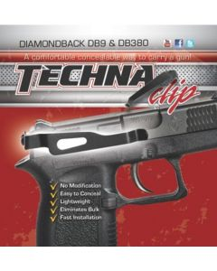 Techna Clip Handgun Retention Clip Diamondback DB380/DB9 Rs