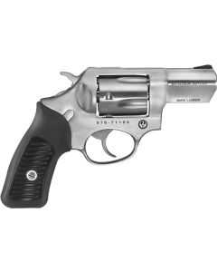 """Ruger Sp101 9mm 2.25""""  5-shot Fs Stainless Rubber Grips"""