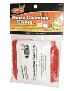 HME Game Cleaning Glove Set Shoulder/wrist W/towlette 1ea