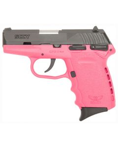 SCCY CPX1-Cb Pistol DAO 9MM 10Rd Black/Pink Manual Safety
