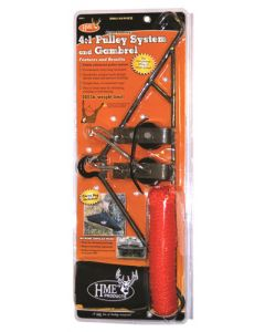 "HME Game Hanging Gambrel & Hoist 4:1 Ratio 3/8"" 500lbs"