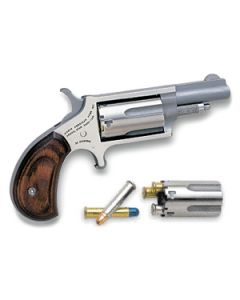 "North American Arms Mini-Revolver Combo .22LR/.22WMR 1-5/8"" S/S Wood"