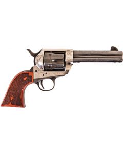 "Cimarron Frontier .45lc Pw Fs 4.75"" Engraved Silver/bl Wal"