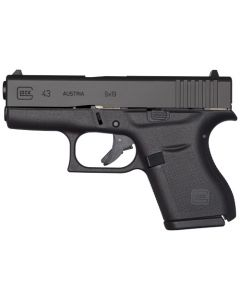 Glock 43 9MM Luger FS 6-Shot Black