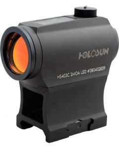 Holosun Micro Red Dot W/solar 2-moa Dot Hi/low Mount Black