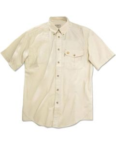 Beretta Shooting Shirt Medium Short Sleeve Cotton Tan
