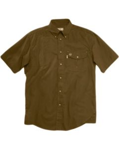 Beretta Shooting Shirt Small Short Sleeve Cotton Brown