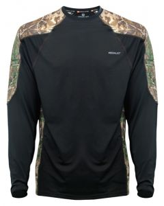 Medalist Performance Crew Ls Level-2 Blk/Rt Camo Medium