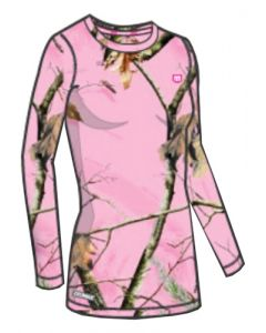 Medalist Womens Performance Crew Ls Level-2 Pink Camo Med