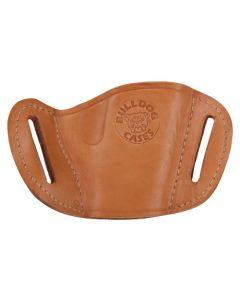 Bulldog Cases Belt Slide Holster Tan RH Med Autos 1911, Browning Hp