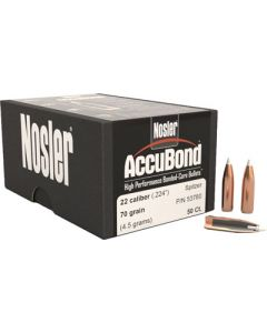Nosler Bullets .22 Cal .224 70gr Accubond 50ct