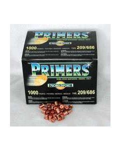 Nobel Sport #209 Primers 5000 Pack Case Lots Only