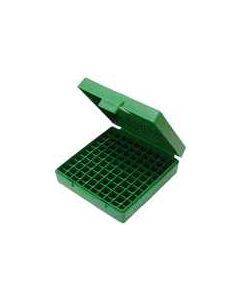 MTM Case-Gard Ammo Box 9MM Luger/.380ACP /9x18 100-Rounds Green