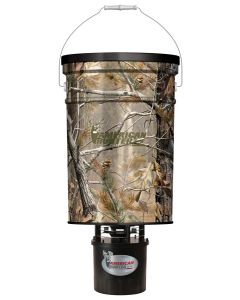 American Hunter Hanging Feeder 50lbs. Metal Hoppper Camo