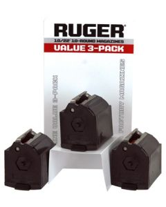 Ruger Magazine 10/22 .22LR 10-Rounds Black Plastic 3Pack