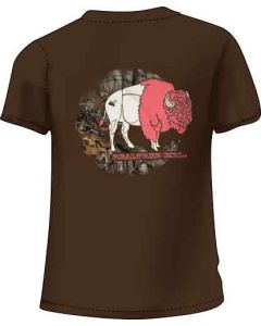 "Realtree Women's T-shirt ""bison"" 2x-large Chocolate"