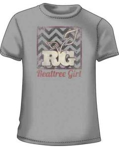 "Realtree Women's T-shirt ""realtree Girl"" Large Silver"