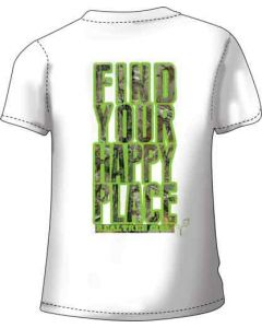 "Realtree Women's T-shirt ""happy Place"" 2x-large White"