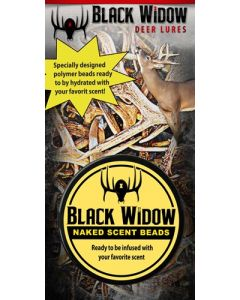Black Widow Deer Lures Naked Scent Beads 2 Ounces