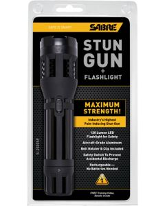 Sabre Stun Gun Tactical Flash Flashlight 5,000,000 Volt Blk