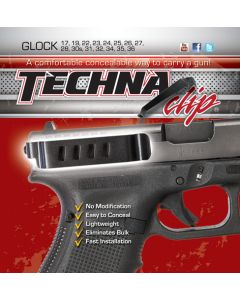 Techna Clip Handgun Retention Clip Glock Except 42 Rht/Left