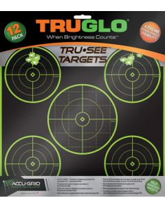 Truglo Tru-see Reactive Target 5 Bull 12-pack