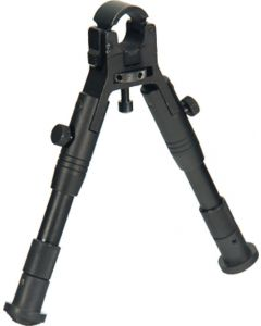 "Utg Bipod Clamp On Center Ht 6.2""-6.7"" W/rubber Foot Pads"