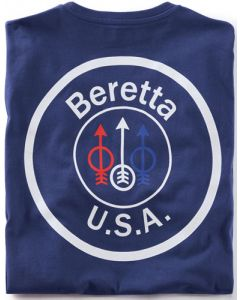 Beretta T-shirt Usa Logo Medium Navy Blue