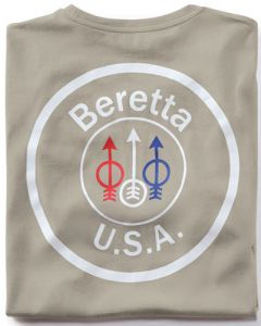 Beretta T-shirt Usa Logo 2x-large Grey