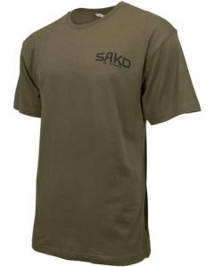 Sako T-Shirt W/Old Skool Logo Small Army Green