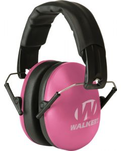 Walker Game Ear Folding Muffs Youth/ladies Nrr 27db Pink